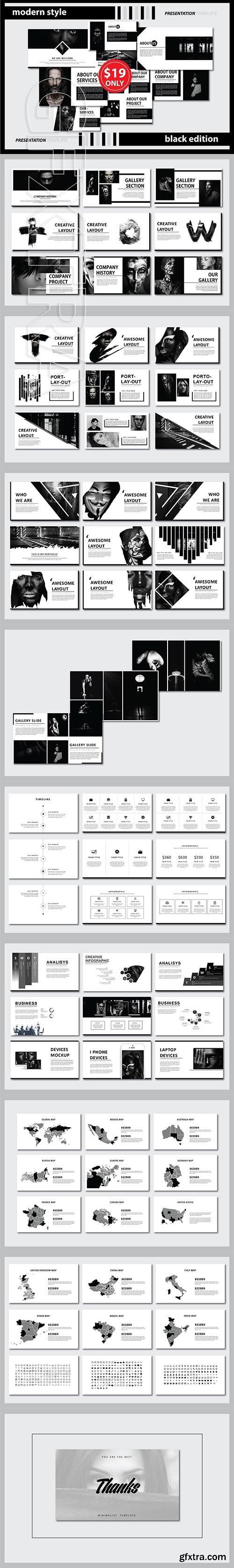 CreativeMarket - Napoleon Powerpoint Template 2682286