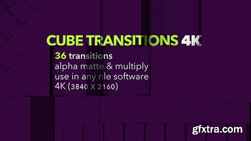 Videohive - Cube Transitions 4K - 36 Pack - 20464784