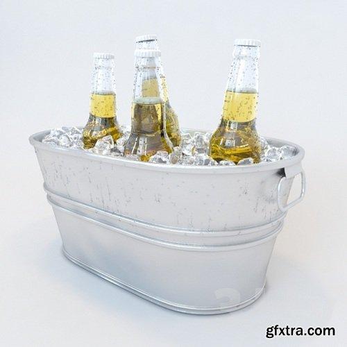 Bucket beer 3d model