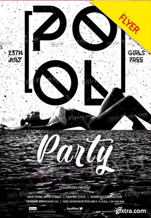 Pool Party V19 2018 Flyer PSD Template