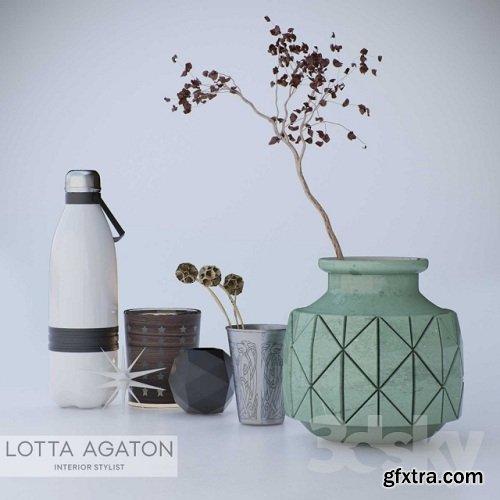 Lotta Agaton decor 3d Model