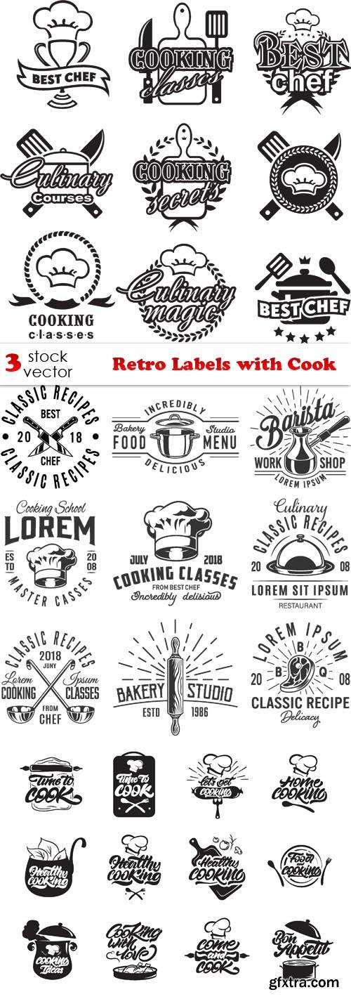 Vectors - Retro Labels with Cook