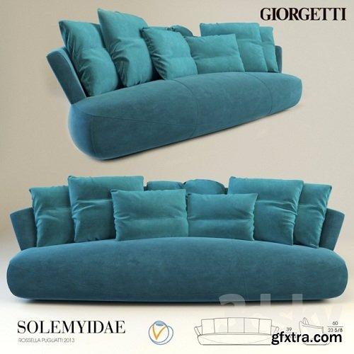 Giorgetti Solemyidae Sofa by Rossella Pugliatti 3d Model