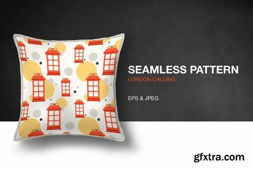 London Calling Seamless Pattern