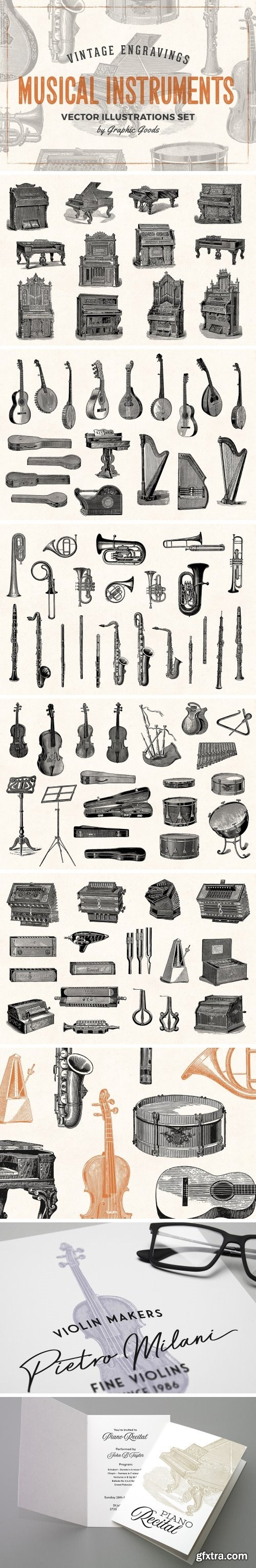 CM - Musical Instruments Engravings Set 1900180