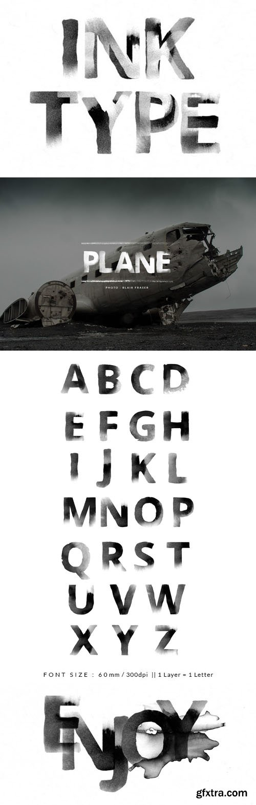 InkType - Lettering (A-Z) in PSD