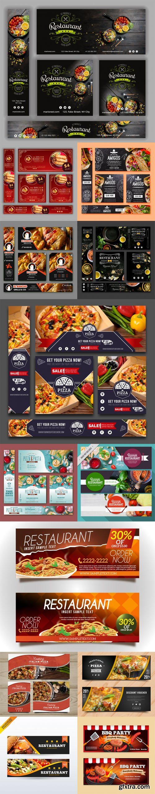 50 Colorful Restaurant Banners Collection in Vector [Ai/EPS]