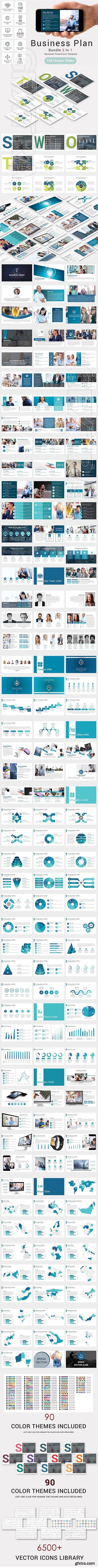 CreativeMarket - Bundle 2 In 1 Business Plan Template 2636526