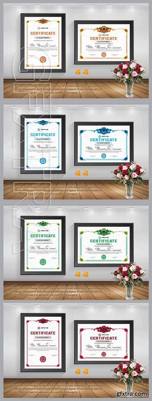 CreativeMarket - Certificate Print Ready Template 2659442