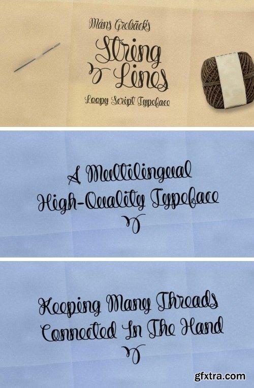 String Lines Font