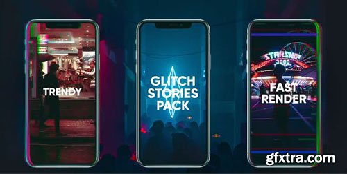 Glitch Stories Pack - After Effects 89842