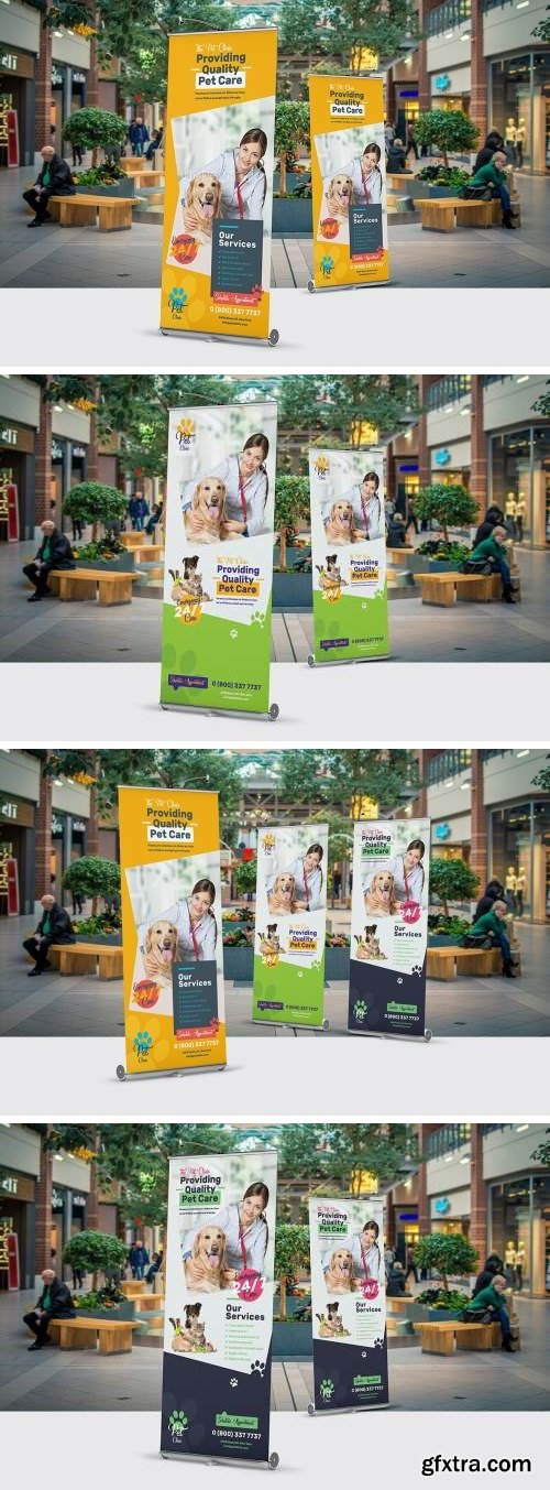 Pet Clinic Roll-Up Banner