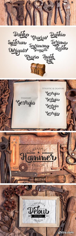 Fontbundles - Georgia Script 10631