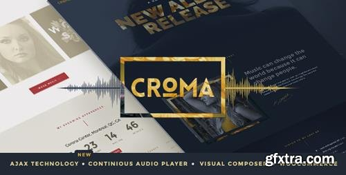 ThemeForest - Croma v3.4.5 - Responsive Music WordPress Theme with Ajax and Continuous Playback - 15182698