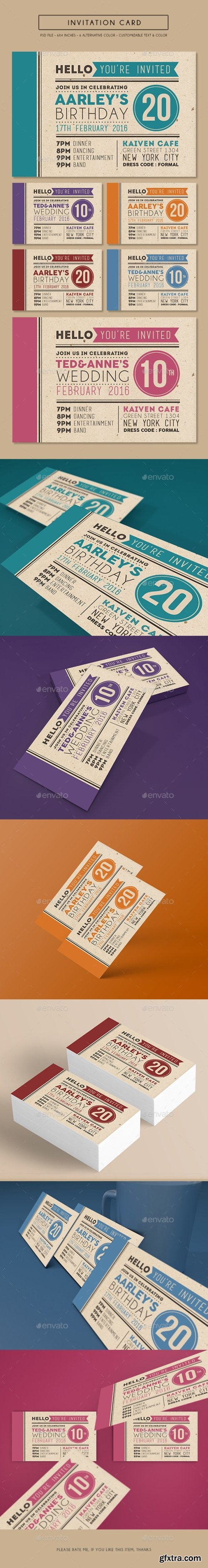 Graphicriver - Colorfull Invitation Card 14926029