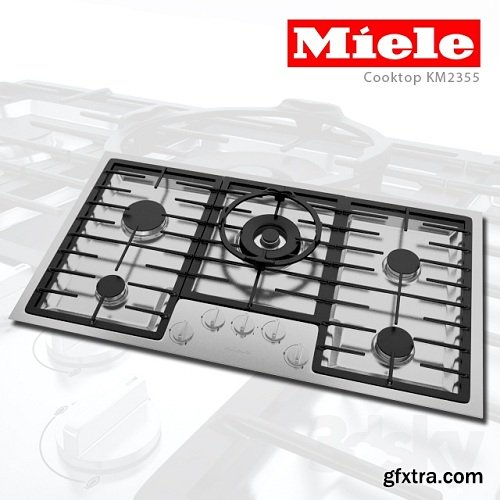 Miele Cooktop KM2355 3d Model