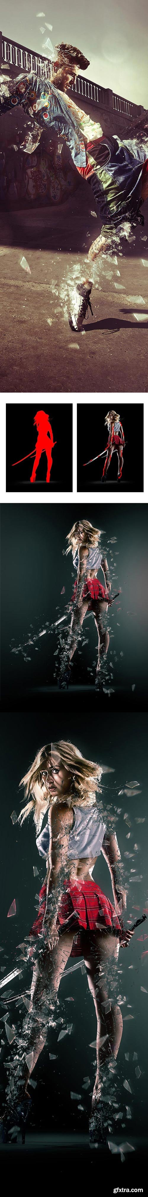 GraphicRiver - Broken Photoshop Action - 14672433