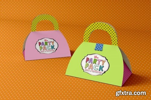 Gift Box 2 Party Packaging Mockup