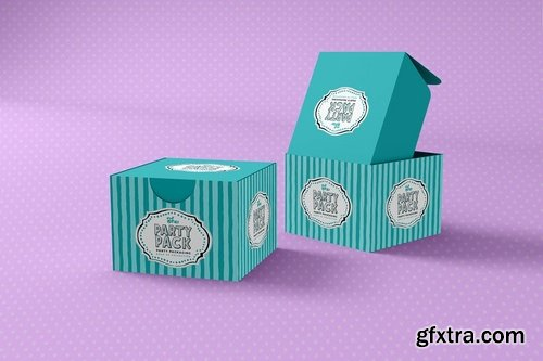 Surprise Gift Box Party Packaging Mockup