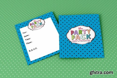 Invite Party Packaging Mockup