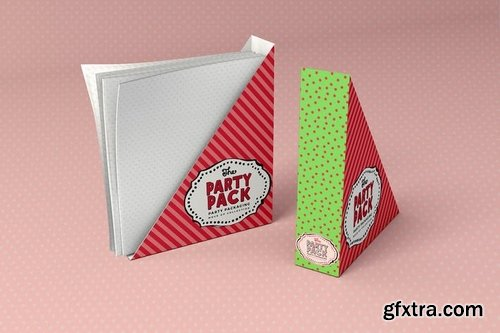 Paper Napkin Holder Party Packaging Mockup