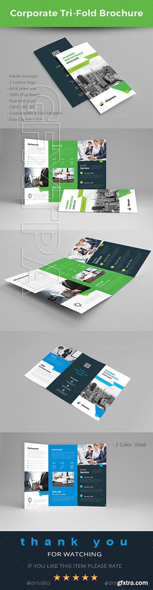 CreativeMarket - Trifold Brochure 22093873
