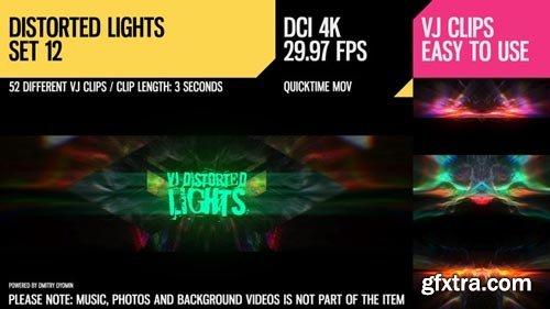 Videohive - VJ Distorted Lights (4K Set 12) - 19380533