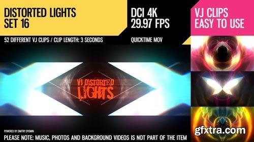 Videohive - VJ Distorted Lights (4K Set 16) - 19418511