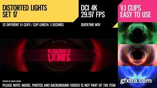 Videohive - VJ Distorted Lights (4K Set 17) - 19424165