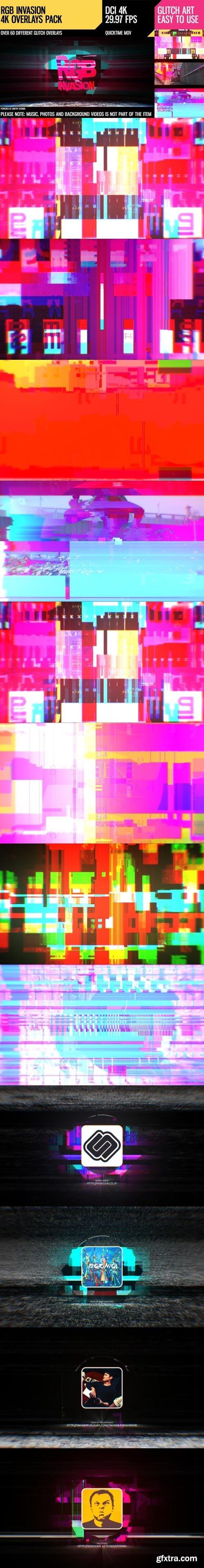 Videohive - RGB Invasion (4K Overlays Pack) - 19509295