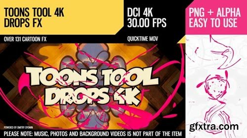 Videohive - Toons Tool 4K (Drops FX) - 21100274