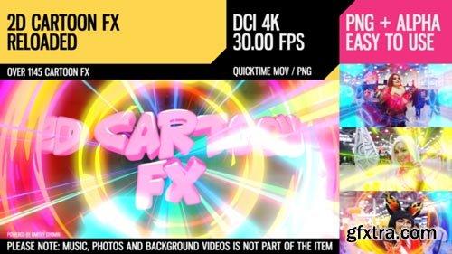 Videohive - 2D Cartoon FX (Reloaded 4K) - 22136457