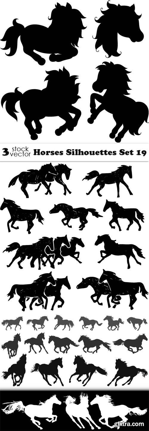 Vectors - Horses Silhouettes Set 19