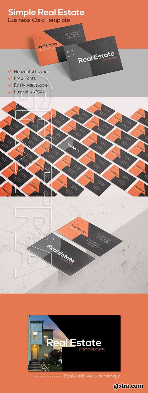 CreativeMarket - Simple Real Estate Business Card 2419833