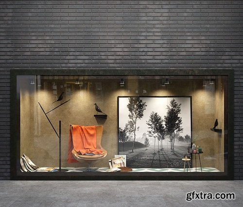 Showcase with Interior Accessories
