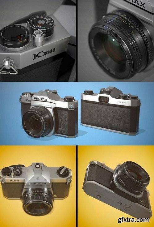 Pentax K1000 Cam 3D Model