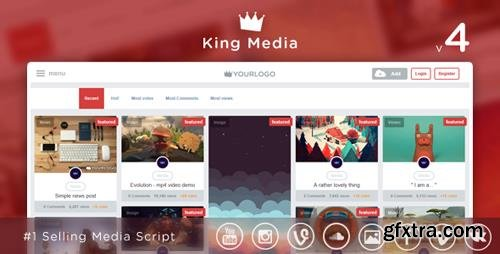 CodeCanyon - King Media v4.1 - Viral Video, News, Image Upload and Share - 7877877 - NULLED