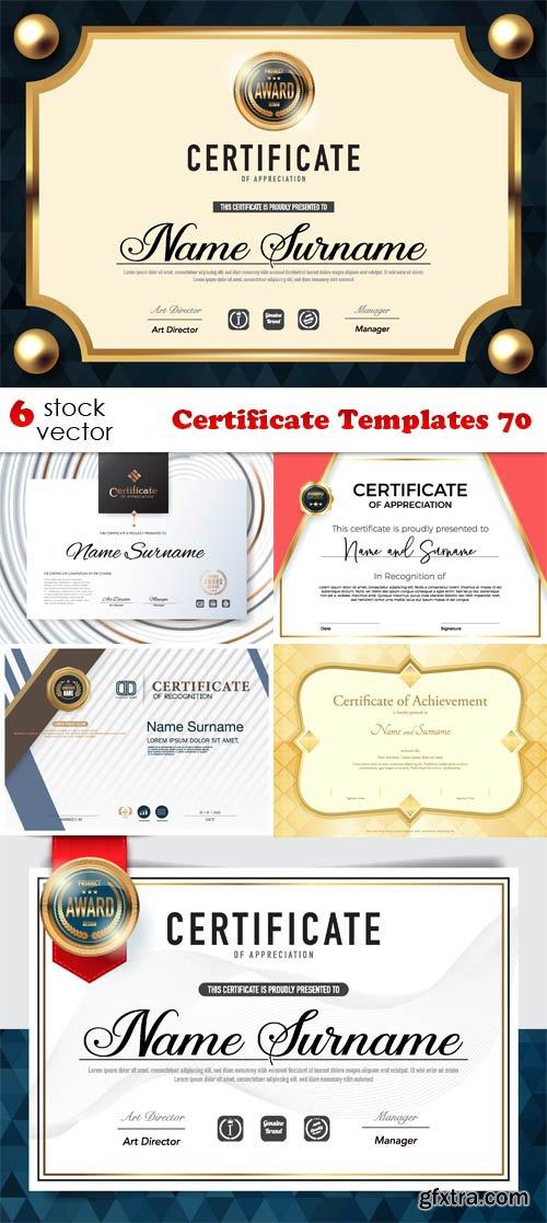 Vectors - Certificate Templates 70