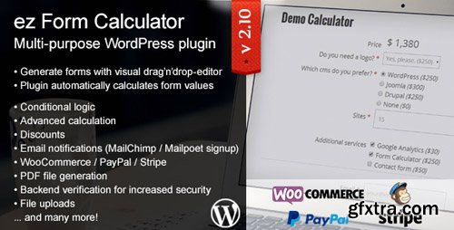 CodeCanyon - ez Form Calculator v2.10.4.1 - WordPress plugin - 7595334