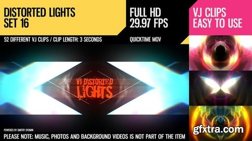 Videohive VJ Distorted Lights (Set 16) 19458900