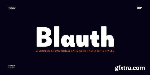Blauth Font Family - 18 Fonts