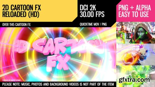 Videohive 2D Cartoon FX 22145832
