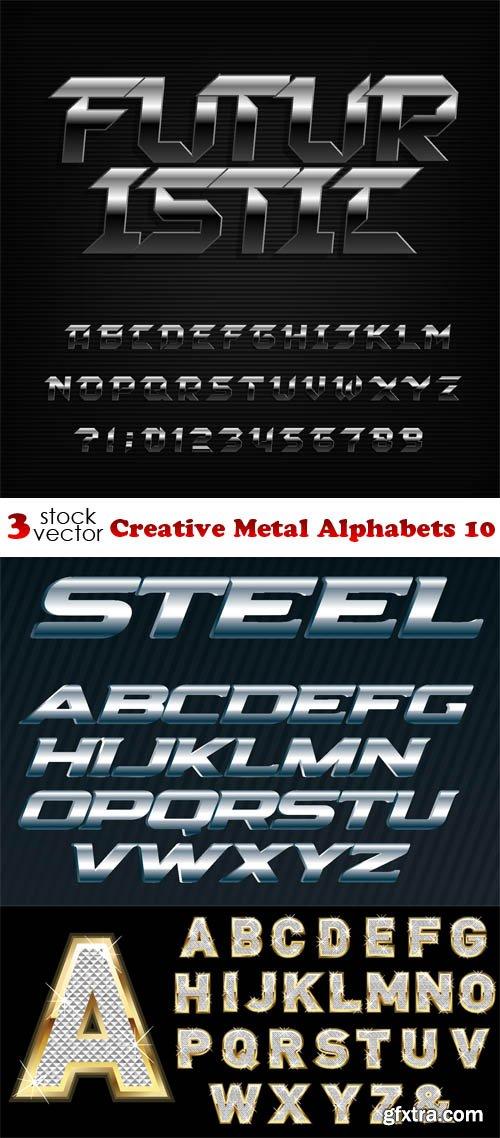 Vectors - Creative Metal Alphabets 10