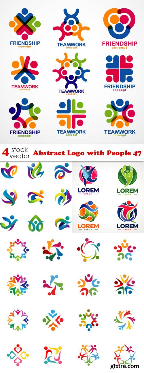 Vectors - Abstract Logo with People 47