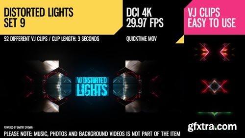 Videohive - VJ Distorted Lights (4K Set 9) - 19259182