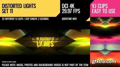Videohive - VJ Distorted Lights (4K Set 11) - 19359401