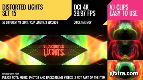 Videohive - VJ Distorted Lights (4K Set 15) - 19404653