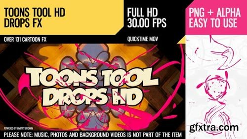Videohive - Toons Tool HD (Drops FX) - 21202451