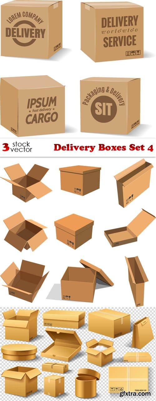 Vectors - Delivery Boxes Set 4
