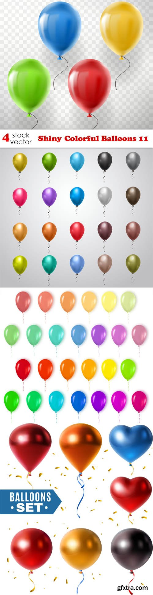 Vectors - Shiny Colorful Balloons 11